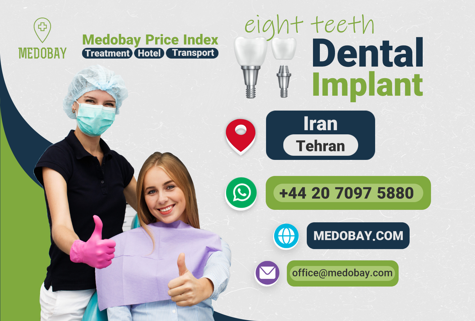 Eight Teeth Dental Implant Tehran