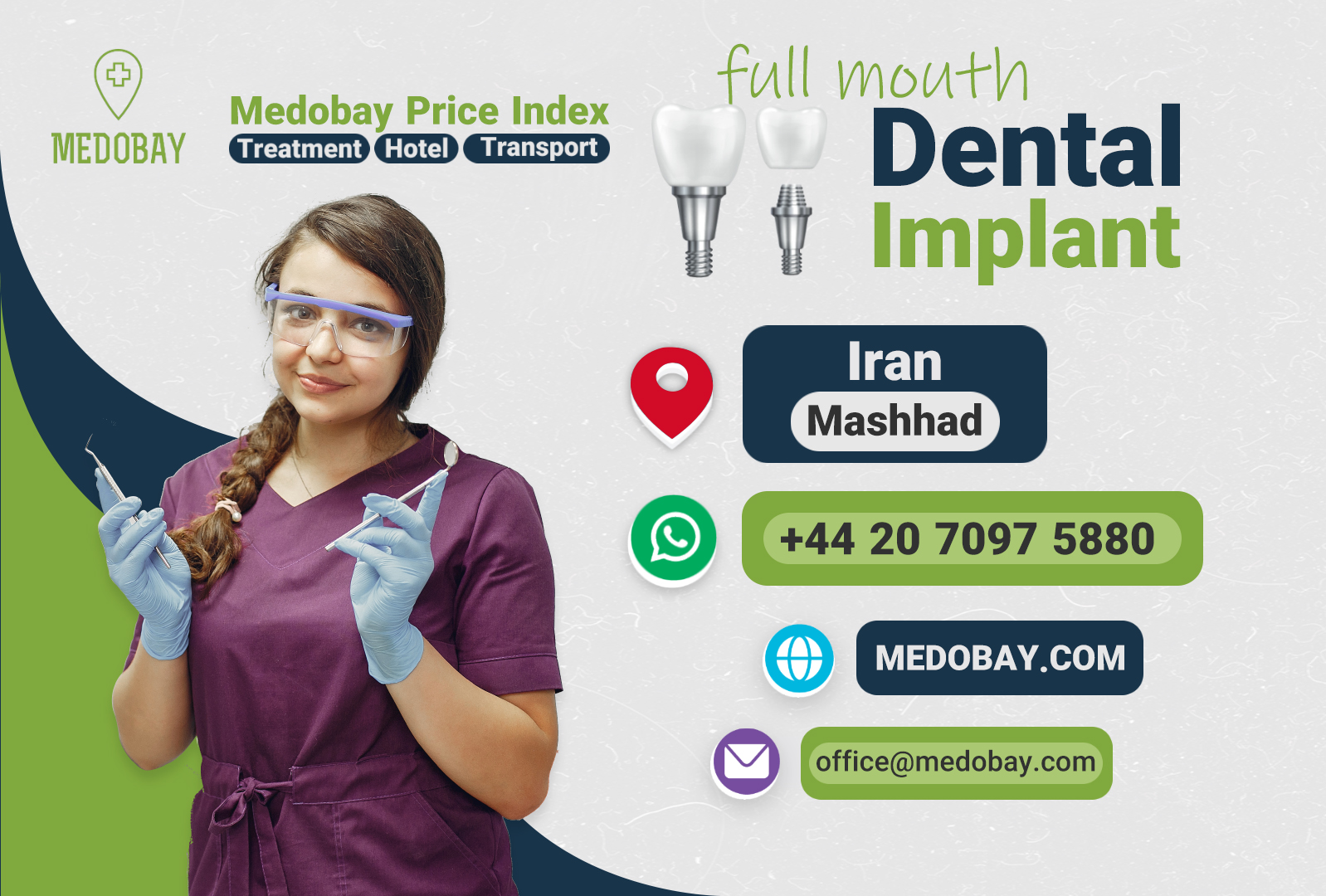 full mouth dental implant mashhad