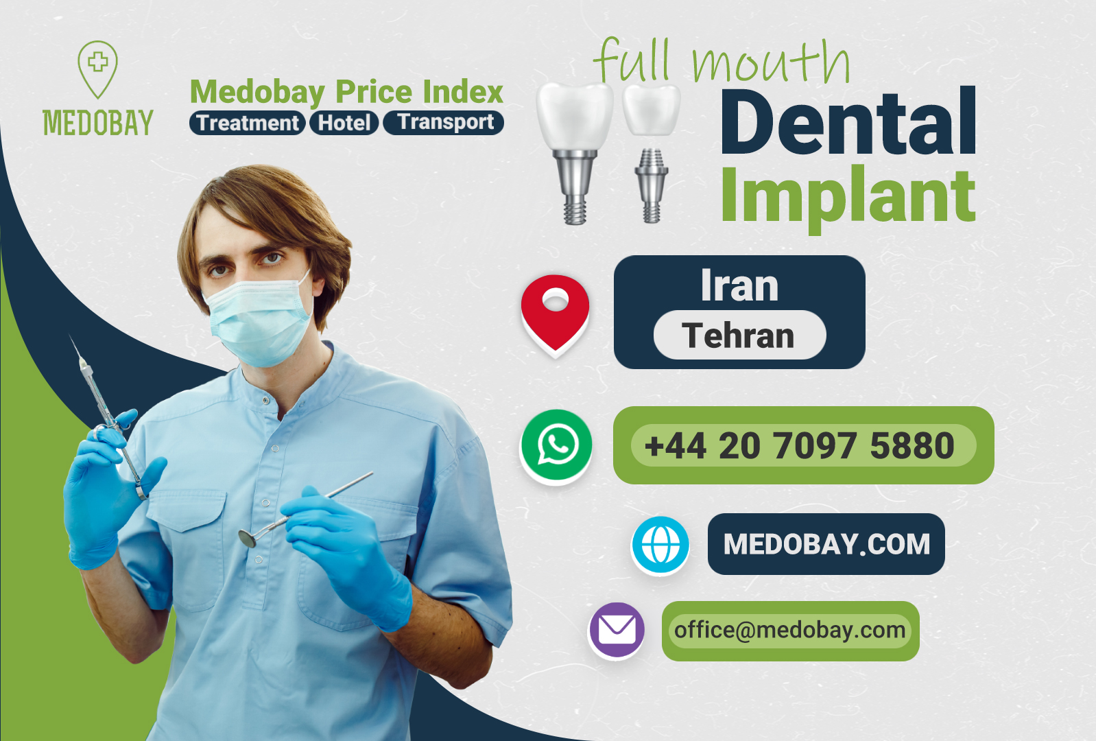 Full Mouth Dental Implant Tehran